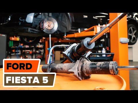 How to replacefront shock absorbersonFORD FIESTA 5TUTORIAL | AUTODOC