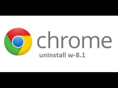 uninstall chrome windows 8.1 mode