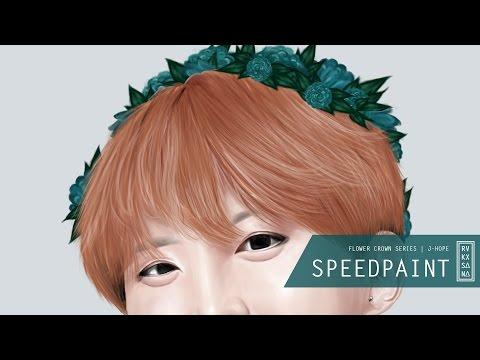 [ SPEEDPAINT ] BTS Flower Crown Series : J-Hope