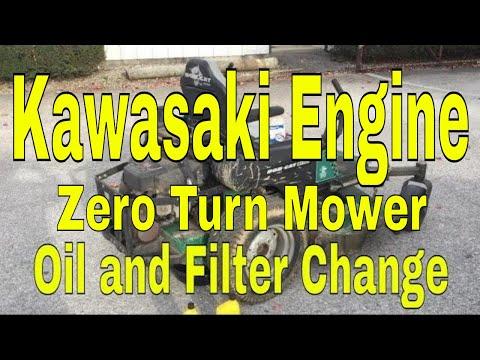 Oil Change on a Zero Turn Mower - Kawasaki Engine.
