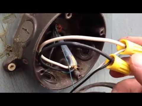How To Replace Your Old Garage Or Backyard Flood Light With a New Halogen One