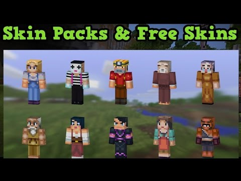 HOW TO GET ALL MINECRAFT PE SKIN PACK FOR FREE [2016][WITH LINK]