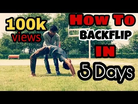 How To Back handspring ( Backflip ) In 5 Days ( HINDI ).