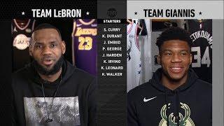 2019 NBA All-Star Draft - Team LeBron vs Team Giannis | 2019 NBA All-Star Weekend