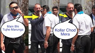 OMG ! Sanjay Dutt fighting with Jackie Shroff in front of media