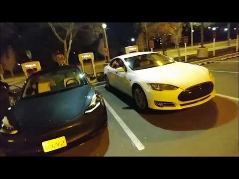 HadesOmega Charged Tesla Model 3 at Supercharger Station Experience