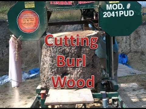 Cutting Massive Burl On The Mill