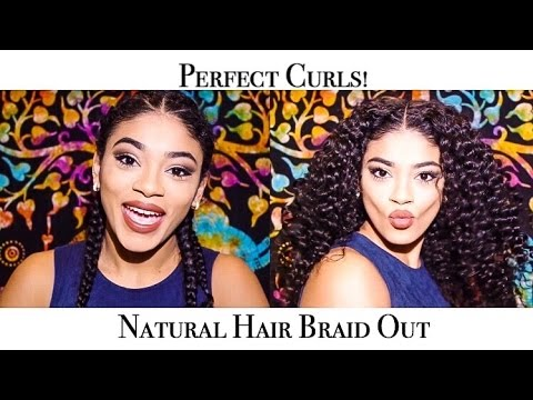 Natural Hair Braid Out-Perfect Curls | jasmeannnn