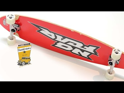 Cheap No Fear Longboard - It does not turn - Upgrade your Longboard bushings! - Review