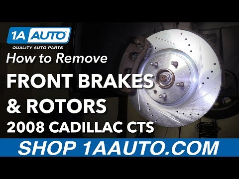 How to Remove Replace Front Brakes 2008 Cadillac CTS