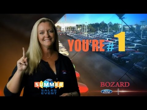 You're #1 at Bozard Ford!! - Summer Sales Event 7-2015