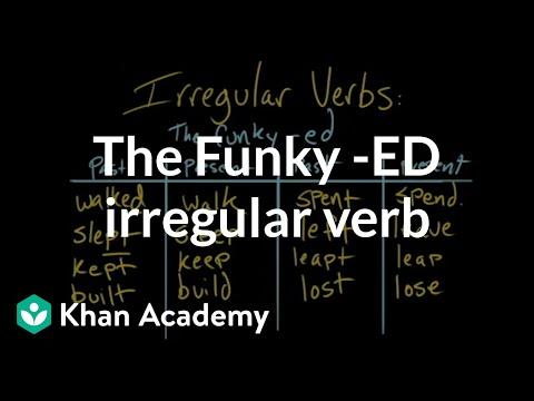 The funky -ed irregular verb | The parts of speech | Grammar | Khan Academy