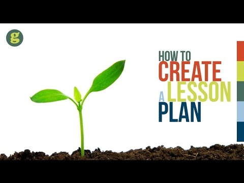 How to Create a Lesson Plan