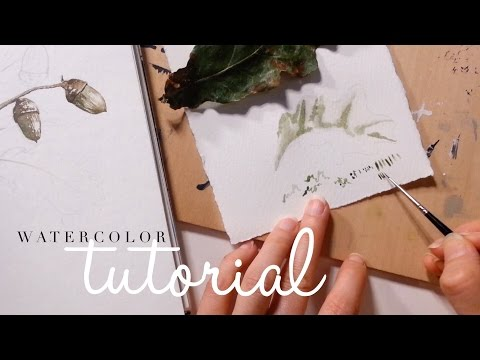 How to use Watercolor: Brush techniques - Dancing  and Stippling the Brush
