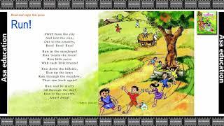 Poem 3 Run (English - Marigold, Grade 4, CBSE) Poem in Easy Hindi/English