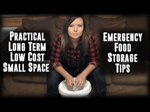 Low Cost Long Term Emergency Food Storage Tips