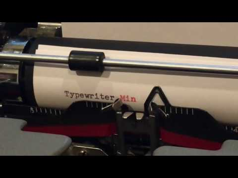TypewriterMinutes - Platen