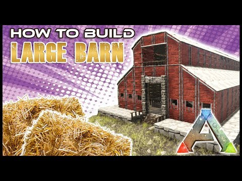 Barn With Stables Tutorial |ARK Survival Evolved | How To Build