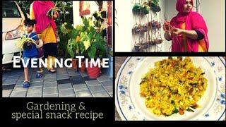 Evening Time I Gardening/Vertical Gardening/Kothu Idiyappam Evening Snack Recipe