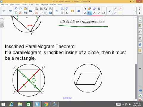 Honors Geometry: 10-7: Inscribed and Circumscribed Polygons