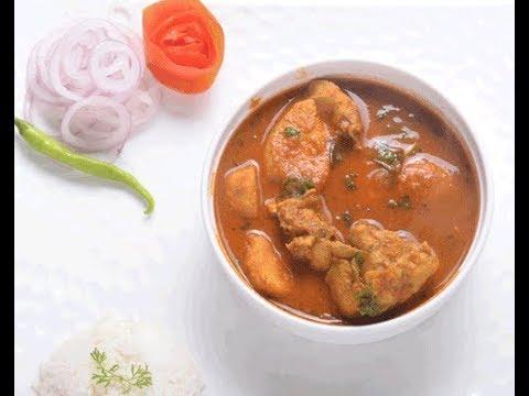 Arbi Chicken with Spicy Gravy