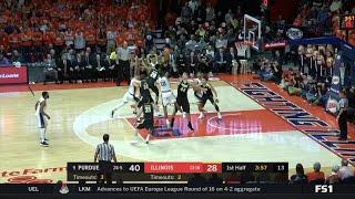 Big Ten Basketball Highlights - Purdue at Illinois