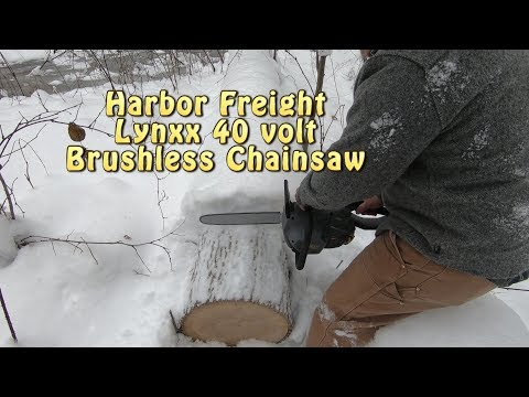 Harbor Freight LYNXX 40V Chainsaw: Unbox & Field Test.