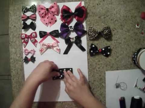 How to make a bow without Needles or Hot glue!!
