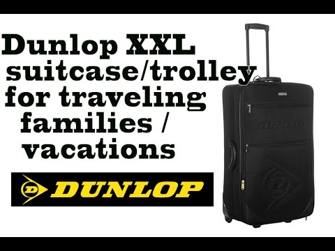 Dunlop Extra LARGE 34'' trolley / Suitcase, vacation travel XXL trolley for families