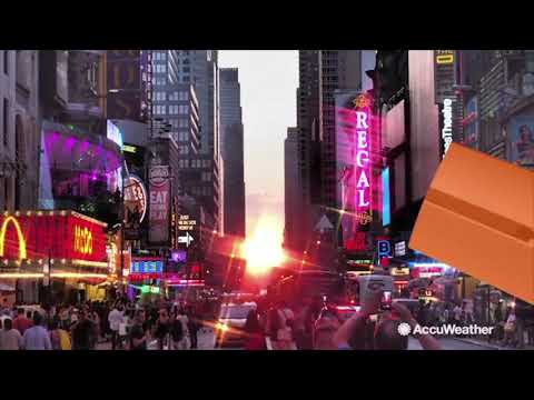 What is 'Manhattanhenge' and how can you see it?