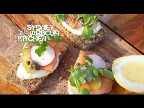 How to make a Danish Open Sandwich - Sydney Harbour Kitchen - Ep13