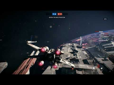 X WING Skills in Space Battle! 4k 60fps