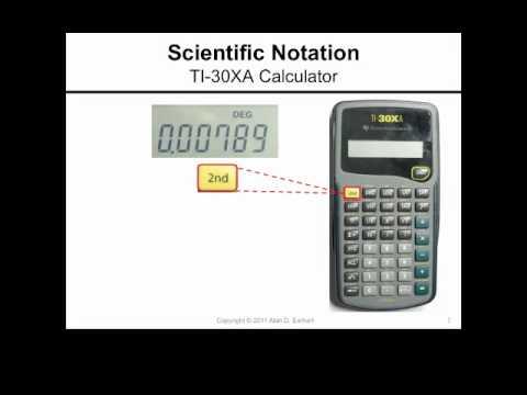 Scientific Notation and the TI-30XA Calculator