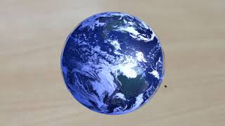 Table-top Earth CGI Test (College project)
