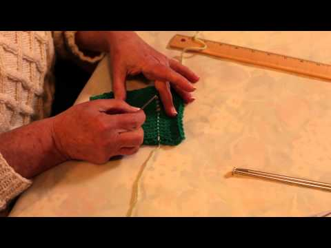 How to Shorten a Sweater Hem : Knitting Sweaters