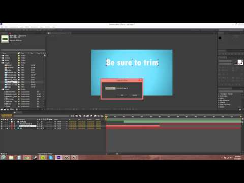 After Effects CS6 Tutorial - 40 - Trimming and Editing Layers