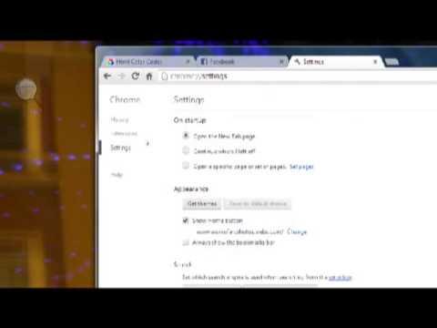 How to Change Google Chrome Homepage 2012