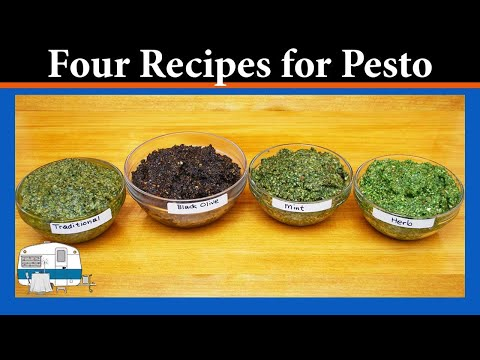Making four different kinds of pesto