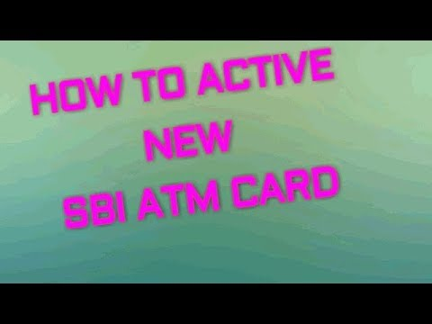 How To ACTIVE NEW SBI ATM CARD through net banking by My Research