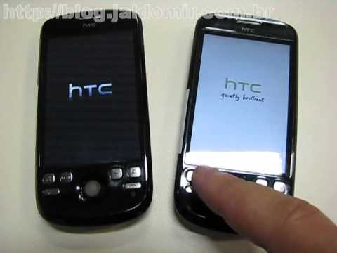 Teste HTC Magic - Android 1.5 x 2.1 - video 1