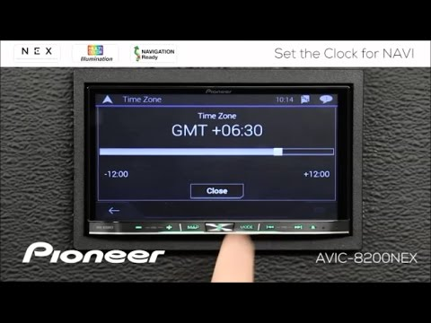 How To - Set the Clock for NAVI on Pioneer NEX Receivers 2017