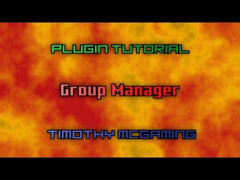 Minecraft Plugin Tutorial - Group Manager (Ranks and Permissions)