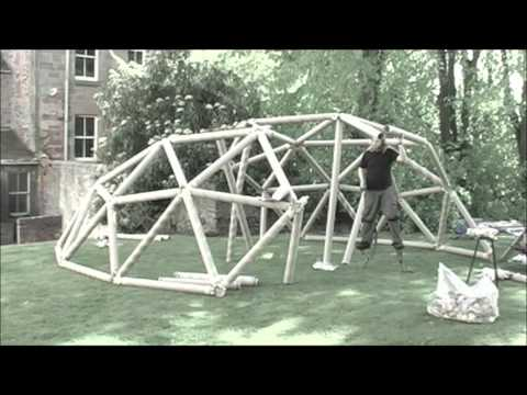 making a geodesic dome/ tent