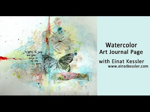 Watercolor Art Journal Page
