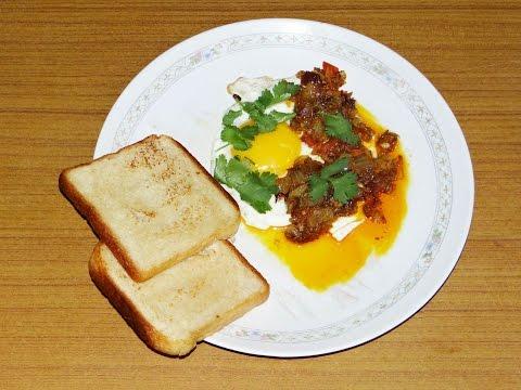 Indian Masala Half Fried Eggs