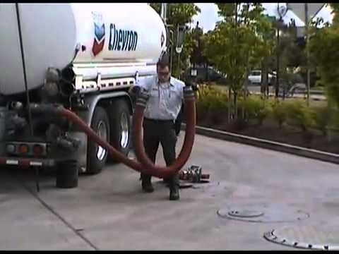 Delivering Fuel at a gas station