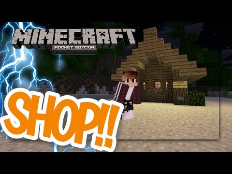 MCPE: How to make a working shop| command block creation