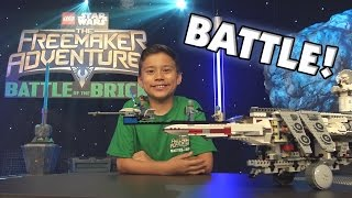 BATTLE of the BRICKS!!! LEGO Star Wars: The Freemaker Adventures Challenge! Disney XD