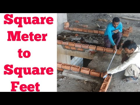 How to Convert Square Meter to Square Feet | Sqm to Sqft | Sqft to Sqm | 1 Square Feet | 1 Sqm