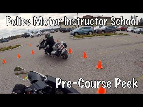 Police Motorcycle Officer Instructor School Training Certification-Spokane, WA-Law Abiding Biker-PT1
